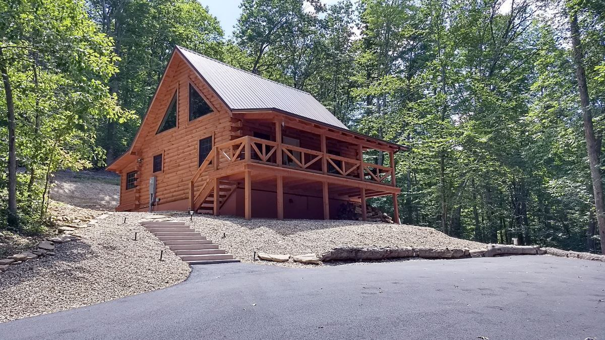 Sandstone Oasis log cabin