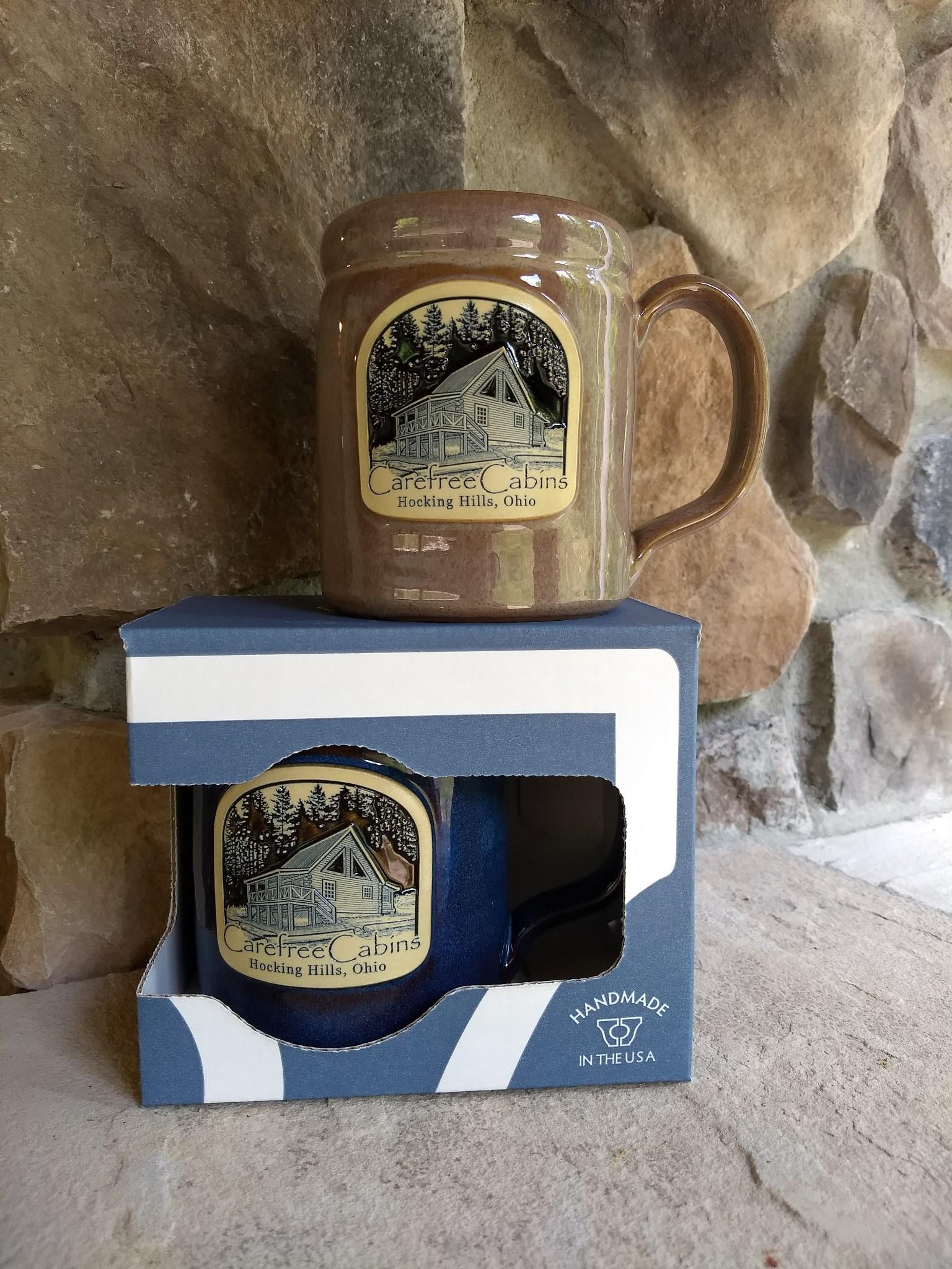 Carefree Cabins Hocking Hills mugs