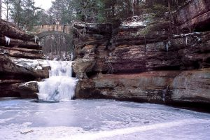 Old Man's Cave Upper Falls in Winter